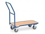 FETRA - 1200 - Magazine trolley, 1 wooden shelf, 250 kg, 850 x 450 mm, WL39802