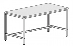 KARL - 30.125.66 - ESD work table Basic, adjustable, ESD hard laminate, grey, 1600x800 mm, WL41267