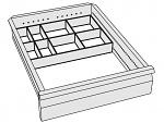 KARL - 96.216.98 - ESD Kleinteileboxen mit Transportschale, 4er Set, Kunststoff, WL32330