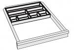 KARL - 96.205.98 - ESD Einsatzschale für Kleinteile Sintro, 7 Fächer, Kunststoff, WL32329