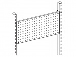 KARL - 39.709.70 - Tool holder wall Sintro, perforated plate, 1415x340mm, table width=1530-1830mm, WL33787