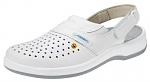 ABEBA - 38600-35 - ESD Clogs white, professional shoes Arrow perforated, size 35, WL29808