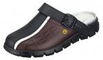 ABEBA - 37315-37 - ESD Clogs black/brown, Dynamic print, size 37, WL36683