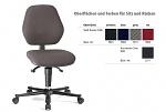 BIMOS - 9151E-9801 - ESD chair BASIC 2 with castors, fabric Duotec black, backrest 430 mm, WL29079