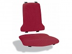 BIMOS - 9875-6803 - Sintec changeable upholstery fabric Duotec, red, WL40189