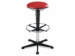 BIMOS - 9469-6903 - Stool 3, with glider and foot ring, imitation leather red, WL40333