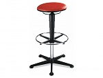 BIMOS - 9469-6803 - Stool 3, with glider and foot ring, fabric Duotec red, WL40329