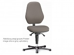 BIMOS - 9157E-9801 - ESD chair Basic 1 with glides, synchronous technology, fabric Duotec black, backrest 530 mm, WL40345