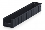 ESD RK 6109 - ESD shelf and material flow box, black, 600x117x90 mm, WL44287