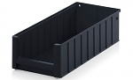 ESD RK 5214 - ESD shelf and material flow box, black, 500x234x140 mm, WL45449