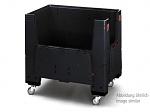 ESD KLK 1208R - Klappbare ESD-Bigbox mit 4 Eingriffsklappen, mit Rollen, 1200 x 800x 1100 mm, WL36825