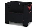 ESD KLK 1208 - Klappbare ESD-Bigbox mit 4 Eingriffsklappen, 1200 x 800x 1100 mm, WL37145