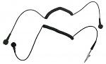 30-560-0645 - ESD Spiralkabel, 1 MOhm,  schwarz, 1,8 m, 4/4,5 mm Druckknopf, WL32804