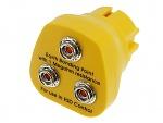 SAFEGUARD - SafeGuard ESD - ESD Erdungsstecker, 3 x 10 mm Druckknopf, gelb, WL24062