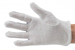 51-695-0011 - ESD glove polyester, with PVC knobs, cleanroom compatible, white, S, WL28140