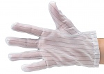 51-690-0500 - ESD glove polyester, lint-free, cleanroom compatible, white, without coating, S, WL28131