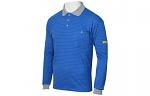 HB SCHUTZBEKLEIDUNG - 08011 86008 000 2031 - ESD polo shirt CONDUCTEX men, blue/grey, breast pocket, XS, WL20313