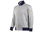 HB SCHUTZBEKLEIDUNG - 08014 86012 000 2064 - ESD sweat jacket with zip, grey/dark blue 300 g/m², XS, WL27174