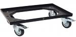 WARMBIER - 5390.250 - ESD Transportroller, schwarz, 610 x 410 mm, 2 Lenk- und 2 Feststellrollen, WL42982