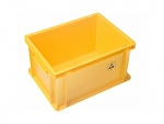 WARMBIER - 5311.Y.31 - ESD IDP-STAT Storage container, conductive, yellow, 400 x 300 x 320 mm, WL42778