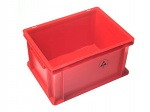 WARMBIER - 5311.R.31 - ESD IDP-STAT Storage container, conductive, red, 400 x 300 x 320 mm, WL42777