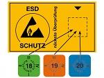 WARMBIER - 2850.6035.20.E - date sticker, 15 x 15 mm sky blue 2020, 30 pcs / sheet, english, WL45193