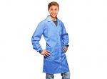 WARMBIER - 2635.AM160.C.XS - ESD work coat, unisex, 3 mm snap fastener, blue, 3/4 length, XS, WL44251