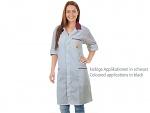 WARMBIER - 2618.AM160.G.XS - ESD work coat, unisex, grey/black, 3/4 length, XS, WL39672