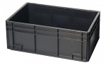 WARMBIER - 5310.15 - ESD Storage container, conductive, black, 600 x 400 x 75 mm, WL30587