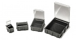 WARMBIER - 5100.880 - SMD folding box, black with transparent, metallized lid, 16x12x15 mm, WL21029