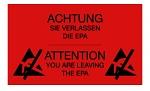 WARMBIER - 2850.150300.R.DE - Warning sign, PVC, red, 150x300 mm, German/English, WL33935