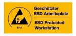 "WARMBIER - 2850.4090.DE - Warning sticker ""ESD Workstation"", WL20398"