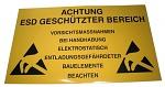 WARMBIER - 2850.150300.D - EPA warning sign, 300 x 150 mm, PVC, yellow, German, WL27068