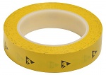 WARMBIER - 2820.25433.Y - ESD adhesive tape PVC, yellow, 25,4 mm x 33 m roll, WL32232
