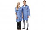 WARMBIER - 2618.AM160.B.S - ESD work coat, unisex, blue/dark blue, S, WL32027