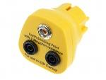 SAFEGUARD - Safeguard ESD - ESD Erdungsstecker, 1 x 10 mm Druckknopf, gelb, WL32124