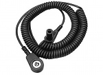 WARMBIER - 2101.751.3.2 - ESD Spiralkabel, 1 MOhm, schwarz, 2,4 m, 3 mm Druckknopf, WL32117