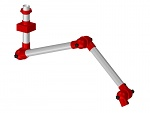 ALSIDENT - 50-8747-3-4 - Suction arm system DN50 3 joints, 1380 mm, red - Ceiling mounting, WL18029
