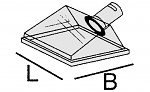 ALSIDENT - 1-502422-4 - Suction hood DN 50 / 245 x 220 mm / red, WL15454