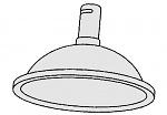 ALSIDENT - 1-5035-4 - Suction hood DN 50 / D = 385 mm / red, WL18338