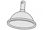 ALSIDENT - 1-5028-4 - Suction hood DN 50 / D = 280 mm / red, WL20652