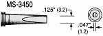 PLATO - MS-3450 - Soldering tip MS series, chisel-shaped, B: 3.2 mm, WL18099
