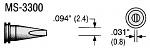 PLATO - MS-3300 - Soldering tip MS series, chisel-shaped, B: 2.4 mm, WL18097