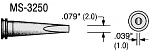 PLATO - MS-3250 - Soldering tip MS-series, chisel-shaped, B: 2 mm, WL18096