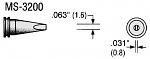 PLATO - MS-3200 - Soldering tip MS series, chisel-shaped, B: 1.6 mm, WL18095