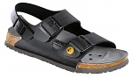 BIRKENSTOCK - 634790-35 - ESD Sandals MILANO 35 black, normal, heel strap, WL28691