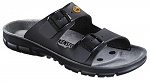 BIRKENSTOCK - 520848-38 - ESD Sandals BILBAO with double buckle, natural leather, men, narrow, black, size 38, WL30050