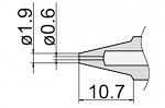HAKKO - N3-06 - Desoldering nozzle for FM-2024, WL39879