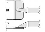 HAKKO - T8-1012 - Desoldering tip pair for desoldering tweezers FM2022, 0.7 x 18 mm, WL23416