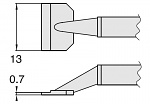 HAKKO - T8-1008 - Desoldering tip pair for desoldering tweezers FM2022, 0.7 x 13 mm, WL23412